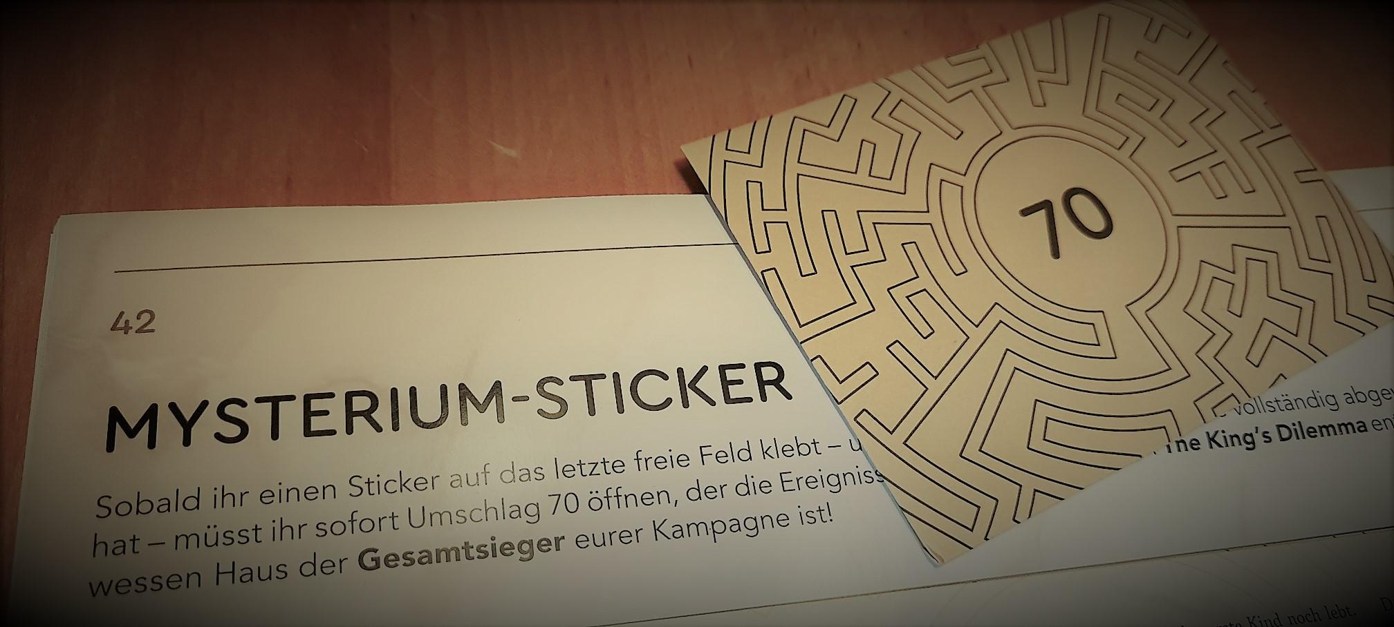 The King's Dilemma - Sticker - Foto von Alex Sch.