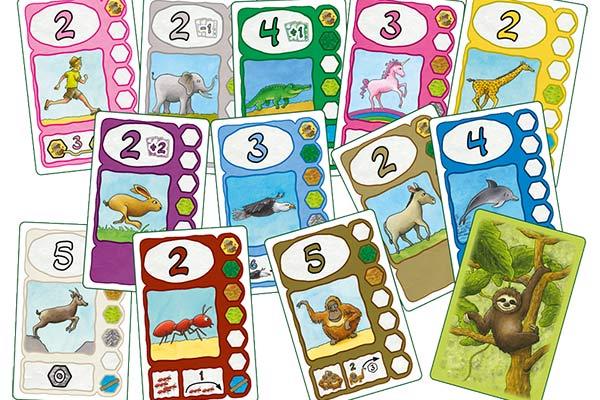 Gesellschaftsspiel Faultier - Spielkarten - Foto von 2F-Spiele