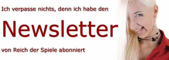 Brettspiele-Newsletter von Reich der Spiele abonnieren