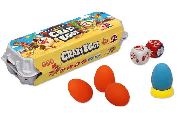 Crazy Eggz - Material und Verpackung - Foto von Abacusspiele
