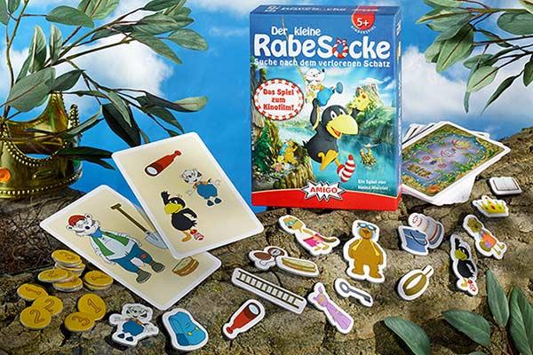 Der kleine Rabe Socke: Suche nach dem verlorenen Schatz - Präsentation - Foto von Amigo Spiele