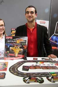 Klemens Franz präsentiert die Carrera Tabletop Games - Foto Arno Steinwender