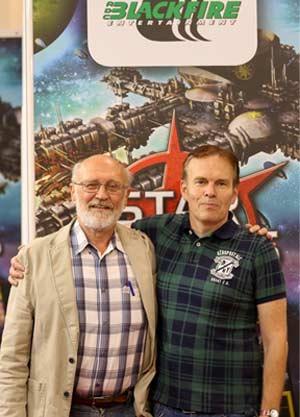 Spieleautor Martin Schlegel und Redakteuer Uli Blennemann