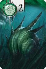 Karte Schalentier aus dem Spiel Abyss - Foto von Bombyx