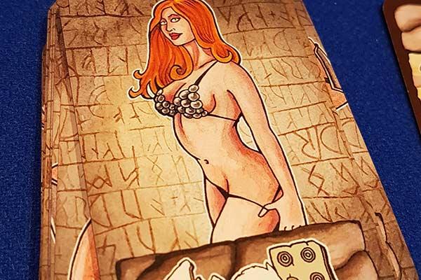 Barbaria - Kartengrafik mit gewagten Damenillustrationen - Foto von Axel Bungart