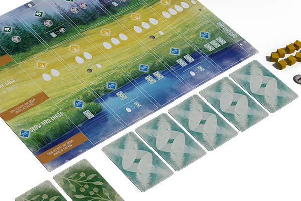 Flügelschlag - Ausschnitt Spielertableau - Foto von Feuerland Spiele