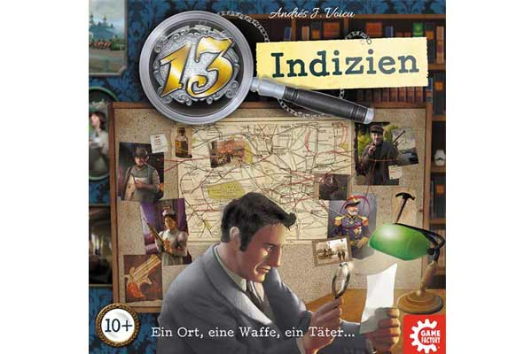13 Indizien - Gesellschaftsspiel - Foto von Game Factory