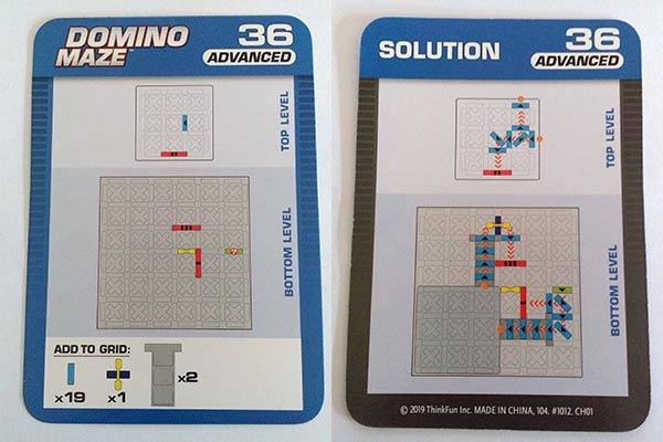 Domino Maze Aufgabe und Lösung - Foto: Steffi Münzer