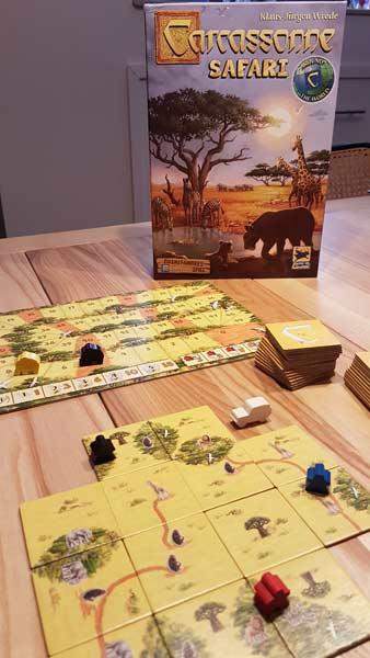 Spielaufbau bei Carcassonne: Safari - Foto von Axel Bungart