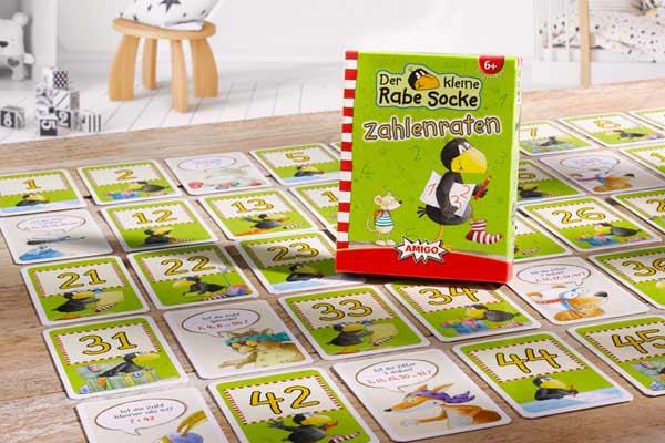 Der kleine Rabe Socke: Zahlenraten - Mathespiel für Kinder - Foto von Amigo Spiele