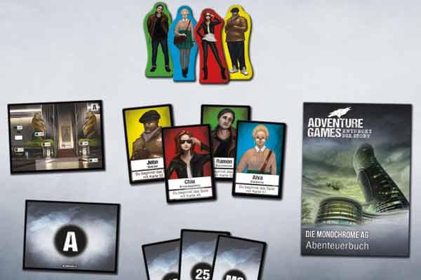 Adventure Games: Die Monochrome AG - Material - Foto von Kosmos