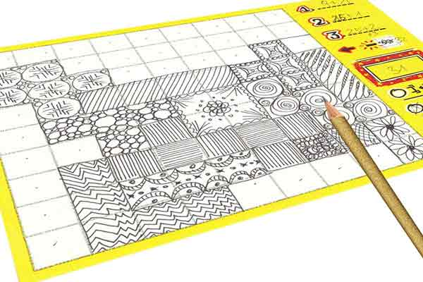 Patchwork Doodle - Zeichenblock - Foto von Lookout Spiele
