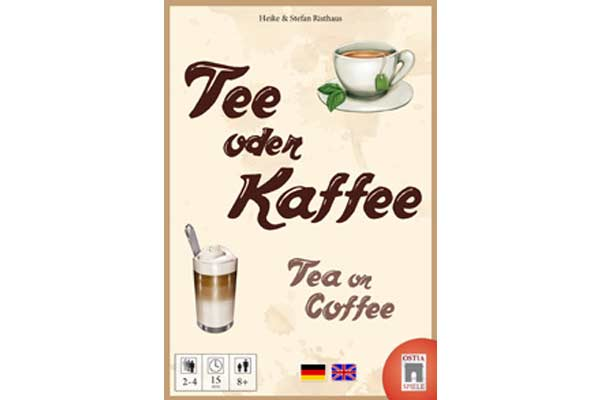 Tee oder Kaffee - Schachtelgrafik - Foto von Ostia Spiele