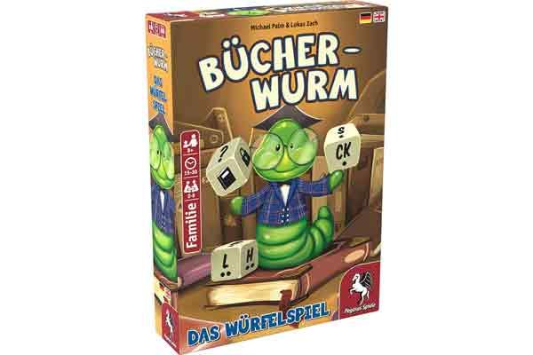 Bücherwurm: Das Würfelspiel - Schachtel - Foto von Pegasus Spiele