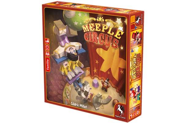 Gesellschaftsspiel Meeple Circus - Foto von Pegasus Spiele