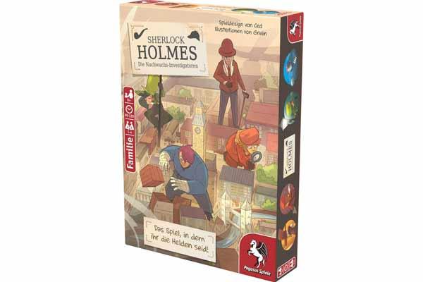 Sherlock Holmes - Die Nachwuchs-Investigatoren - Schachtel  - Foto von Pegasus Spiele