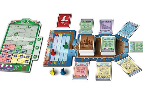 Copenhagen - Tableau und Kartenauslage - Foto von Queen Games
