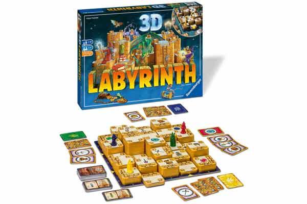 3D Labyrinth - Material und Aufbau - Foto von Ravensburger