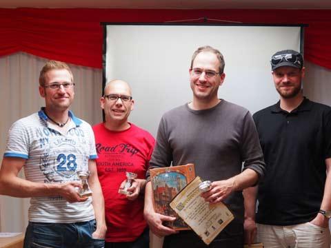 Die Sieger des Carcassonne-Turniers 2014 in Bonn