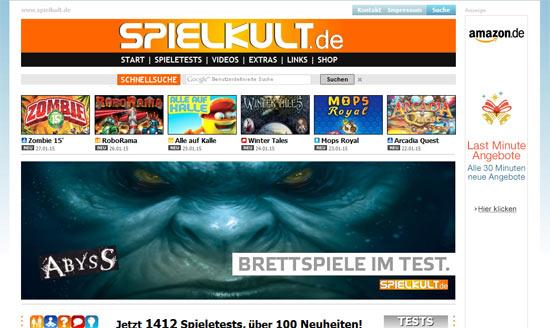 Die Webseite Spielkult.de