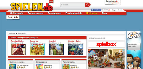 Die Beta-Version der Spieledatenbank