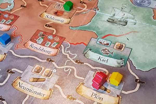 Brettspiel Vejen - Kartenausschnitt - Foto von Spielefaible