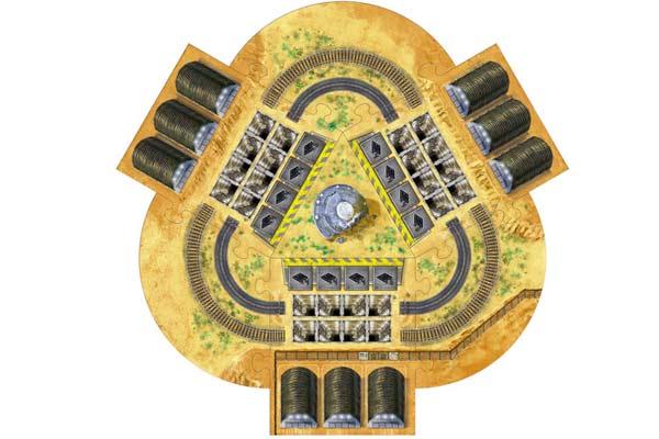 Spielbrett Area 51 - Foto von Mücke Spiele