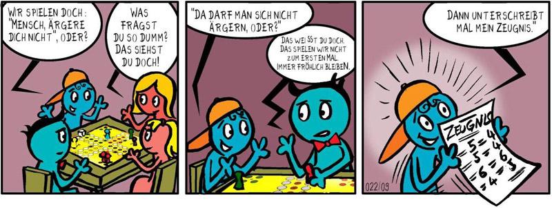 Spiele-Comic: Das Zeugnis