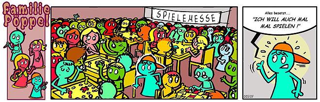 Spiele-Comic: Wieder Spielemesse