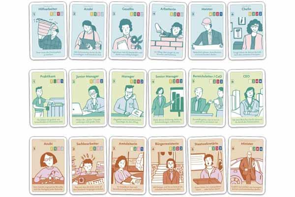 Karriereleiter - Kartenmotive - Foto von Wonderland Spiele