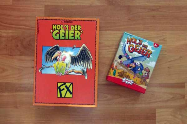 Hol's der Geier - altes Cover und neue Schachtel - Foto von Jörn Frenzel