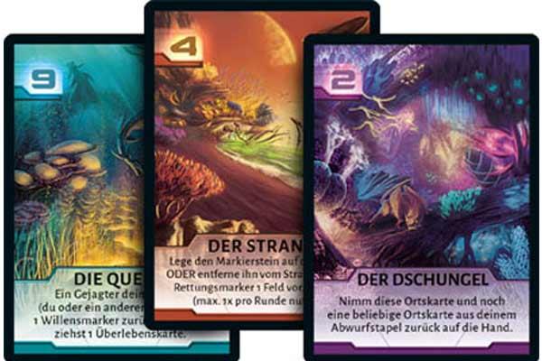 Spielkarten von Not Alone - Foto von Corax Games