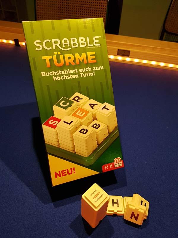 Das Spiel im Einsatz - Scrabble Türme - Foto von Axel Bungart