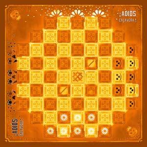 Rückseite Spielpan Adios Calavera - Grafik Mücke Spiele