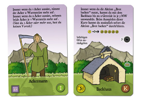 Agricola - Neuentwurf zweier Karten von Klemens Franz