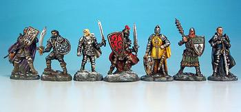 Die bemalten Ritterfiguren sind als Zusatzpack zu kaufen und sehen noch besser als die Originalspielfiguren aus von Days of Wonder