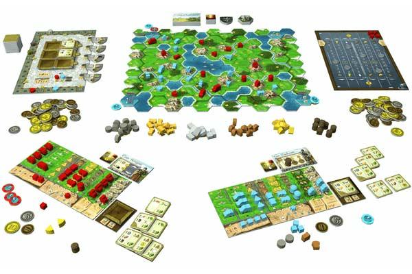 Spielmaterial Clans Of Caledonia - Foto von Karma Games