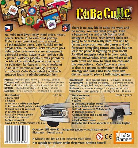 Cuba Cube - Schachtelrückseite von Jirasgames