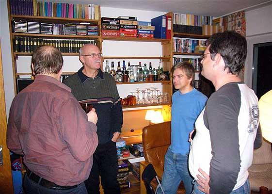oder über die vielen Brettspiele diskutieren von Axel Bungart