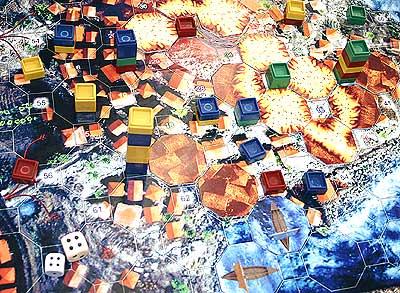 Pompeji hat einen fotografischen Spielplan von Reich der Spiele