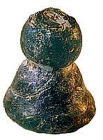Ein Stück aus der Sammlung von Max J. Kobbert: Eine gläserne Spielfigur aus Phönizien aus vorchristlicher Zeit - in zeitloser Form von Max J. Kobbert