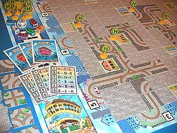 ... eins der Spiele von Stefan Dorra: Linie 1 von Reich der Spiele
