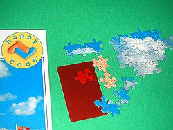 Puzzle mit Happycode von