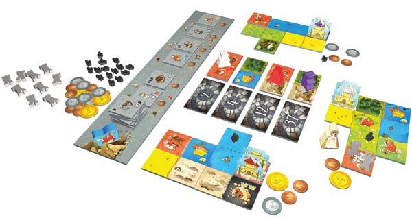 Spielmaterial Queendomino - Foto von Pegasus Spiele