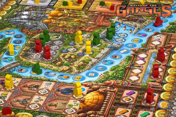 Spielplanausschnitt von Rajas Of The Ganges - Foto von HUCH!