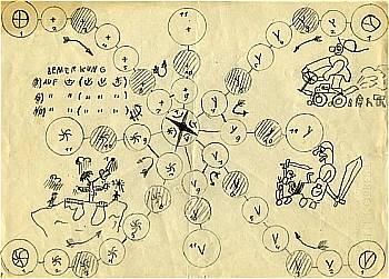 Sonne und Regen entwarf Max Kobbert im Alter von acht Jahren von Max J. Kobbert