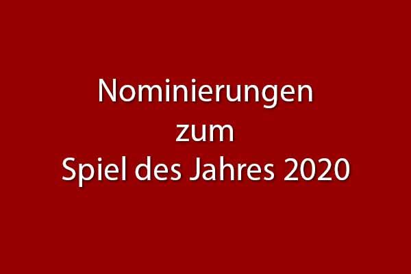 Nominierungslisten Spiel des Jahres 2020