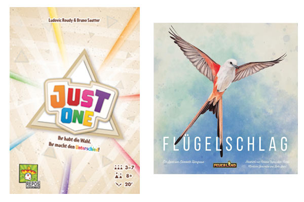 Just One und Flügelschlag sind Spiel des Jahres - Kenenrspiel des Jahres