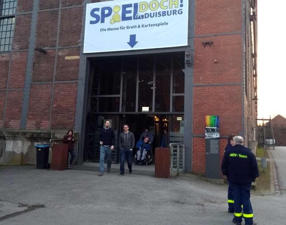 Eingang zur Messe Spiel Doch! - Foto von Dirk Janßen