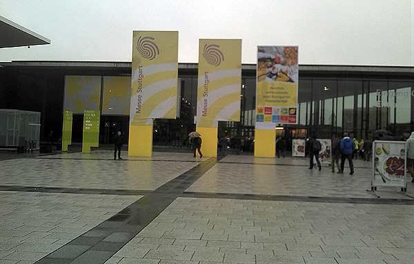 Süddeutsche Spielemesse 2013: Eingang von Jürgen Strobel